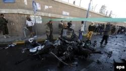 Pamje pas sulmit të sotëm në Sana të Jemenit