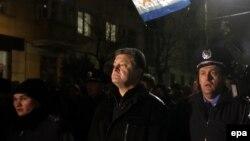 Петр Порошенко в Симферополе, 28 февраля 2014 года