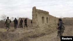 Афганские солдаты в провинции Гильменд, 25 декабря 2015 года.