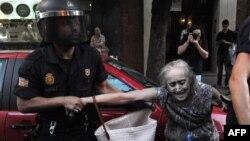 Протести во Мадрид поради кризата.