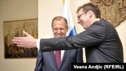 Čudi me da je diplomata kalibra Sergeja Lavrova u Srbiji prepoznao Ukrajinu: Vuk Drašković (na fotografiji: Sergej Lavrov i Aleksandar Vučić).