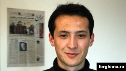 Узбекский журналист из Оша Алишер Саипов.