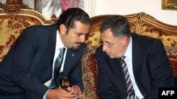 سعد حریری(چپ) و فواد سینیوره(راست)