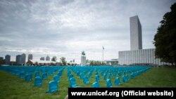 Інсталяція залишатиметься перед будівлею ООН до 10 вересня