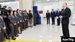 """Ilham Əliyev, 1 saylı """"ASAN Kommunal"""" Mərkəzdə, Bakı, 27 dekabr 2016"""