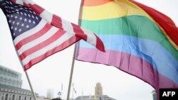 Архива: Активист за правата на хомосексуалците во Сан Франциско.