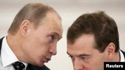 Дмитри Медведев и Владимир Путин