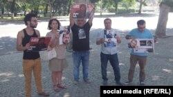 Акция перед посольством Азербайджана в Тбилиси