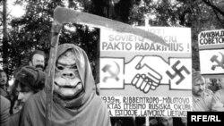 Demonstraţia organizată în ţările baltice la 23 august 1989 (la 50 de ani de la semnarea Pactului Molotov - Ribbentrop)