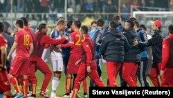 Fotogalerija: Incident na utakmici Crna Gora - Rusija
