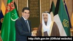 Президент Туркменистана Гурбангулы Бердымухамедов и Эмир Кувейта Сабах Аль-Ахмад Аль-Джабер Аль-Сабах