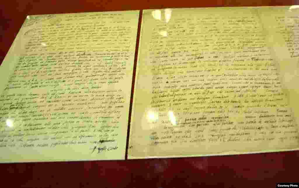 این سند مربوط به سال ۱۵۲۲ می شود و توسط شاه طهماسب اول به فردیناند اول نوشته شده و این ترجمه ایتالیایی این نامه است. اولین ارتباطات ایران و اتریش مربوط به دوران صفوی است که هر دو با چالش امپراتوری عثمانی روبرو شده بودند.