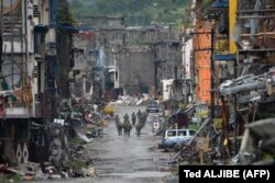 """Город Марави на юге Филиппин, после освобождения от власти боевиков радикальной исламистской группировки """"Абу Сайяф"""". Июнь 2017 года"""