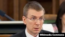Міністар замежных справаў Латвіі Эдгарс Рынкевічс, архіўнае фота