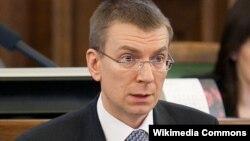 Latviya xarici işlər naziri (Edgars Rinkēvičs) Edwards Rinkevicius.