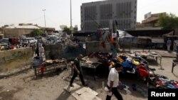 Бағдадтағы жарылыс болған орындардың бірі. Ирак, 17 қыркүйек 2015 жыл.