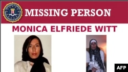 This image released on February 13, 2019 shows the Missing Person page of the FBI website for Monica Elfriede Witt, 39, a former US air force counterintelligence officer. - The US Justice Department charged the former air force intelligence officer on Feb