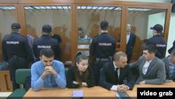 В зале суда. Скриншот с репортажа телеканала NTV