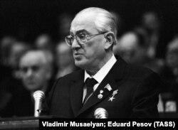 Keçmiş KGB sədri Yuri Andropov. 1982