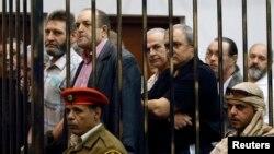 Засуджені в Лівії українці на одному з попередніх засідань суду