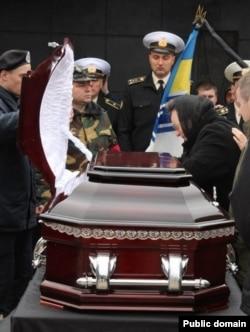 Похороны майора Станислава Карачевского в Бердянске