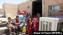 نازحون انتقلوا من شمال العراق الى النجف
