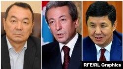 Кубанычбек Исабеков, Адахан Мадумаров жана Темир Сариев. «Азаттыктын» коллажы.