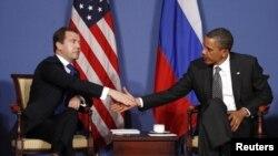 Дмитрий Медведев и президент США Барак Обама