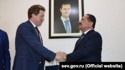 Губернатор Севастополя Дмитрий Овсянников и министр транспорта Сирии Али Хамуд