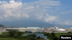 Pamje e një objekti olimpik në Soçi të Rusisë