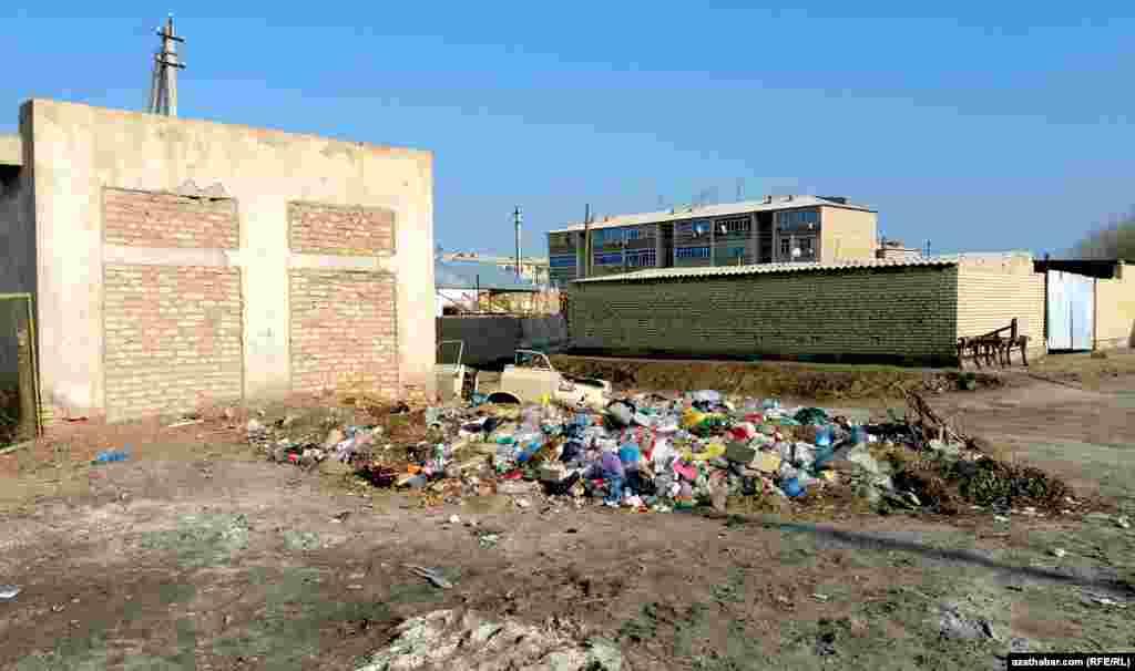 Мусор в Фарапском районе, видимо, вовремя не убирают.