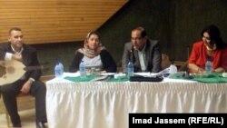 الباحث حيدر شاكر والمطربة يمام في امسية عن الغناء البغدادي في نادي العلوية