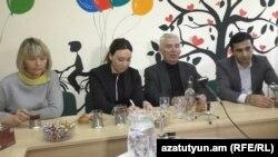 Посол Евросоюза в Армении Петр Свитальский (второй справа) во время мероприятия в Гюмри