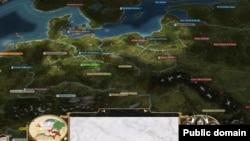 Карта Европы в глобальной стратегии Empire:Total War