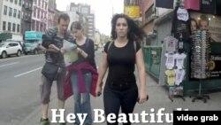 """Скриншот популярного видео """"Десять часов гуляния девушки по Нью-Йорку""""."""