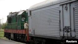 """Поезд с телами погибших в катастрофе малайзийского """"Боинга"""""""