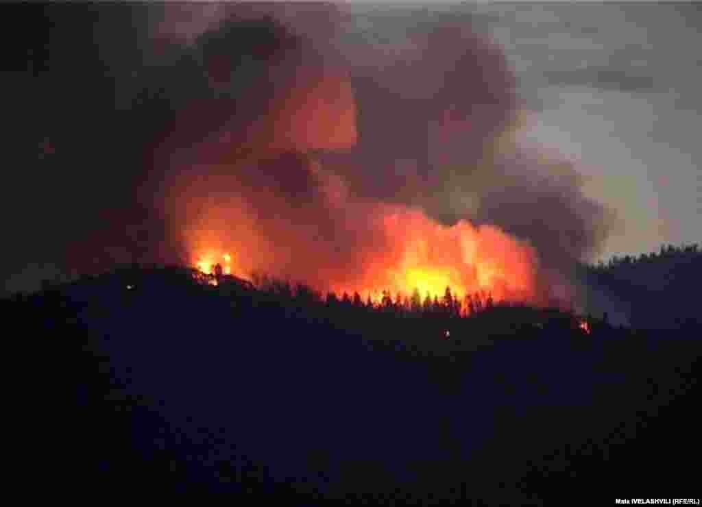 რამდენიმე ასეულ ჰექტარზე გაჩენილი ცეცხლი ხის უნიკალურ ჯიშებს ანადგურებს. - აწყურში ხანძრის ლოკალიზება ჯერ კიდევ ვერ ხერხდება. ბორჯომის ტყეებში ხანძარი კი ჩააქრეს, მაგრამ ჯერ ზარალი არ დაუთვლიათ. ზაფხულის ცხელ დღეებში ხანძარი გაჩნდა დედაქალაქში და იმერეთის ტყეებში.