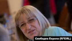 Bulgarian Justice Minister Tsetska Tsacheva (file photo)