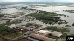 Затопленные дома в Хабаровской области на Дальнем Востоке.