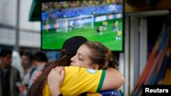 Бразилия-Германия учрашувидан суратлар