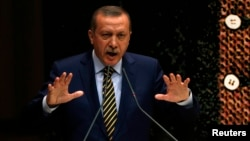 Türkiýäniň premýer-ministr Rejep Taýyp Erdogan. Ankara. 25-nji dekabr, 2013 ý.