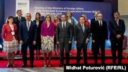 Ministri vanjskih poslova koji prisustvuju Samitu procesa za saradnju u Jugoistočnoj Evropi