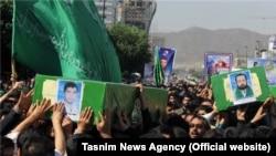 مراسم تشییع پیکر چهار مهاجر افغان کشته شده در سوریه- مشهد٬ ۲۵ اردیبهشت ۱۳۹۳