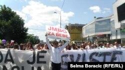 Protesti zbog jedinstvenog matičnog broja u BiH, 1. juli 2013.