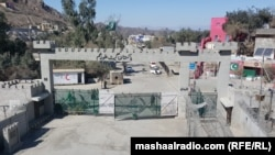 FILE: The Torkham border crossing between Afghanistan and Pakistan.