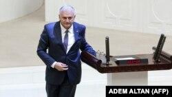Біналі Йилдирим після виступу в парламенті Туреччини, Анкара, 29 травня 2016 року
