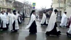 Крестный ход в Севастополе на Рождество