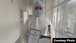 Акбота Абишбаева, врач инфекционного стационара, открытого на базе туберкулезного диспансера в столице.
