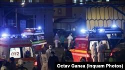 пожар во болница во Букурешт