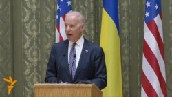 Biden, In Kyiv, Calls On Russia To 'Stop Talking And Start Acting'